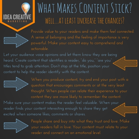 What Makes Content Stick-